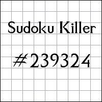 Судоку-киллер №239324