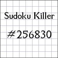 Судоку-киллер №256830