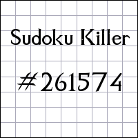 Судоку-киллер №261574