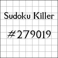 Судоку-киллер №279019