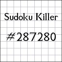 Судоку-киллер №287280