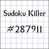 Судоку-киллер №287911