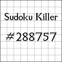 Судоку-киллер №288757