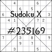 Судоку-диагональ №235169