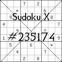 Судоку-диагональ №235174