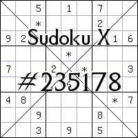 Судоку-диагональ №235178