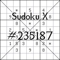 Судоку-диагональ №235187