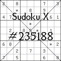 Судоку-диагональ №235188