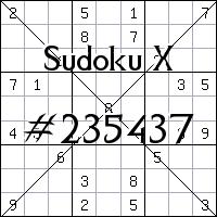 Судоку-диагональ №235437