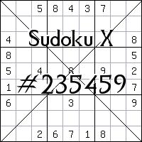 Судоку-диагональ №235459