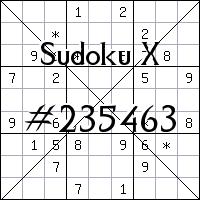 Судоку-диагональ №235463