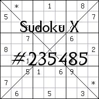 Судоку-диагональ №235485