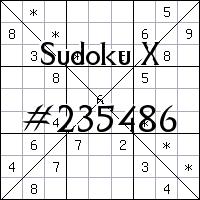 Судоку-диагональ №235486