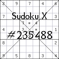 Судоку-диагональ №235488