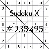 Судоку-диагональ №235495
