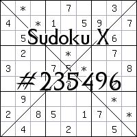 Судоку-диагональ №235496