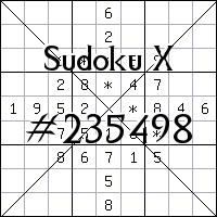 Судоку-диагональ №235498