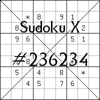 Судоку-диагональ №236234