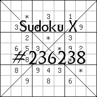 Судоку-диагональ №236238