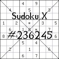 Судоку-диагональ №236245