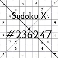 Судоку-диагональ №236247