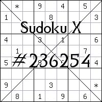 Судоку-диагональ №236254