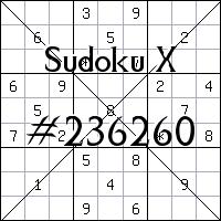 Судоку-диагональ №236260