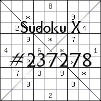 Судоку-диагональ №237278