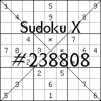 Судоку-диагональ №238808