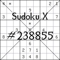 Судоку-диагональ №238855