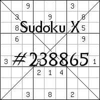 Судоку-диагональ №238865