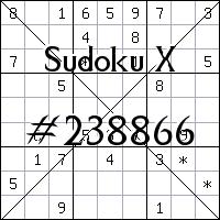Судоку-диагональ №238866