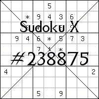 Судоку-диагональ №238875