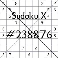Судоку-диагональ №238876