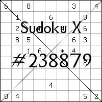 Судоку-диагональ №238879