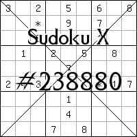 Судоку-диагональ №238880