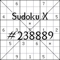 Судоку-диагональ №238889