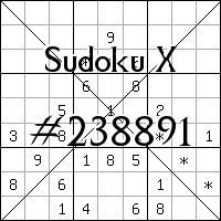 Судоку-диагональ №238891