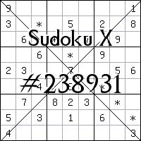 Судоку-диагональ №238931