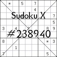 Судоку-диагональ №238940