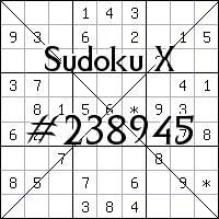 Судоку-диагональ №238945