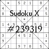 Судоку-диагональ №239319