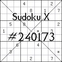 Судоку-диагональ №240173