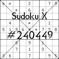 Судоку-диагональ №240449