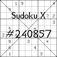 Судоку-диагональ №240857