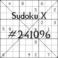 Судоку-диагональ №241096