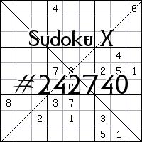 Судоку-диагональ №242740