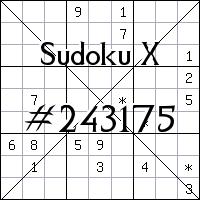 Судоку-диагональ №243175