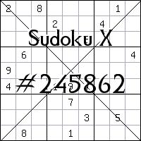 Судоку-диагональ №245862