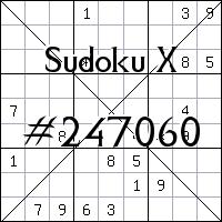 Судоку-диагональ №247060
